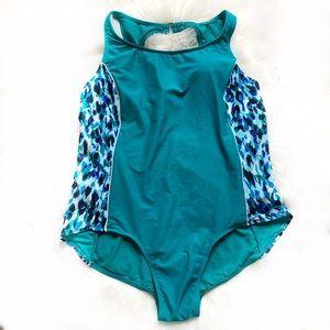 One Piece Swimsuit Modest Padded Swimwear Plus 3X